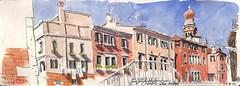 171009venezia04 (Vincent Desplanche) Tags: venise venezia sketching sketch croquis urbansketchers italia italy aquarelle watercolor matiteinviaggio seawhiteofbrighton seawhitesketchbook