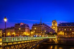 Parisian Blues (Ali Sabbagh) Tags: paris france longexposure scene urban landscape bridge hoteldeville canon eos7d