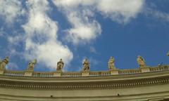 20171009_115236 (jgentenaar) Tags: rome clouds statue statues sanpietro sintpieter saintpeter church