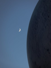 Moon On Moon (Adam Curran) Tags: saintjohn saint john new brunswick newbrunswick nbphoto nikond3300 nikon d3300 nikkor moon outdoor outdoors eveining sky