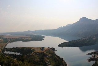 Middle Waterton Lake and hotel