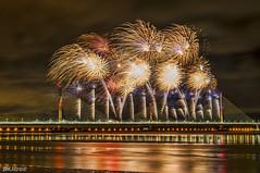 Mersey Gateway Bridge Fireworks 3 (Bob Edwards Photography - Picture Liverpool) Tags: 2017 bridge cheshire crossing gateway halton mersey merseyflow october13th river runcorn transport vehicles widnes