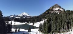 Tipsoo Lake and Mt Rainier (jlcummins - Washington State) Tags: mountrainiernationalpark chinookpass washingtonstate lewiscounty mountain snow tipsoolake landscape