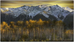 Autumn carries more gold in its pocket than any other season (PhotoArt Images) Tags: canada autumn fall mountains snowcappedmountains photoartimages exposureblending nikond810 nikon2470mm28 canadianrockies