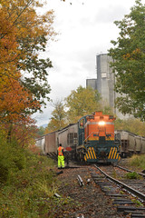 Battenkill. East Greenwich, NY (CN Southwell) Tags: battenkill rr railroad bkrr alco rs3 fall foliage eastern new york state short line shortline