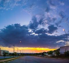 The rains are coming! (VVMesquita) Tags: sunset orange blue clouds cloud light lightpost street city cityscape goiania goiás ufg urban urbanlandscape gorgeous stunning park lumia lumia1020 1020 nokia1020 nokia lapig