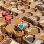 Leather tannery in Fez