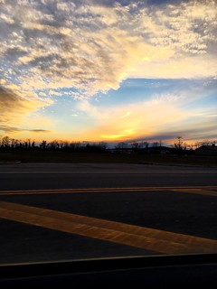 Cloud - Sky Sky Sunset Transportation Road Airport Runway Nature No People Landscape Scenics Travel Runway Airport Outdoors Beauty In Nature Airplane Day Natgeo