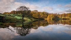 Still waters.....finally ! (Einir Wyn Leigh) Tags: landscape tarn lake water cumbria reflection sunlight tree natural nature walking beauty autumn october clouds