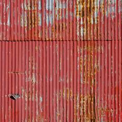 (jtr27) Tags: dscf2832xl jtr27 fuji fujifilm fujinon xtrans xf 50mm f2 f20 wr xf50mmf2rwr square abstract red corrugated siding building maine rust oxidation corrosion patina wabisabi impermanence