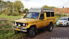 Toyota Land Cruiser J70 4.2 diesel 2001 (XBXG) Tags: 53bznj toyota land cruiser j70 42 diesel 2001 toyotalandcruiser landcruiser yellow jaune 4x4 4wd onna nederland holland netherlands paysbas old classic japanese car auto automobile voiture ancienne japonaise japon japan asiatique asian vehicle outdoor zuidkaper