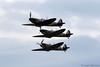 Spitfire Mk I formation - Duxford Battle of Britain airshow 2017 (stu norris) Tags: duxford battleofbritainairshow2017 iwm spitfireia x4650 gcguk comanchewarbirdsltd supermarine spitfiremkia n3200 gcfgj imperialwarmuseum ar213 gaist p7308