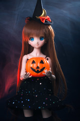 Mara's Halloween 2 (rensuchan) Tags: arle arlenadja d500 halloween mdd witch abjd bjd doll dollfie dollfiedream nikon アルル