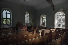 Emptiness (andre govia.) Tags: abandoned andregovia creepy closed cinematic closeddown church chair chapel decay explore decayed derelict decaying decayedbuildings urbex urbanexploration jar windows ghosts emptiness