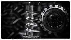 The wheel of tones (HMM !) (ralfkai41) Tags: bw blackandwhite macro musicalinstrument guitar sw schwarzundweis monochrom macromondays makro details musikinstrument gitarre