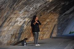 River Seine Flute - 788 (simpsongls) Tags: seine river walk flute entertainment sidewalk france paris road arch bridge