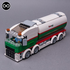 LEGO City Octan gas tanker truck (KEEP_ON_BRICKING) Tags: lego city octan oil gas gasoline tanker truck custom design volvo trucks 8x8 6wide building instructions youtube tutorial keeponbricking afol lv latlug legooctan livery color scheme