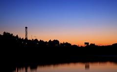 Sunset (Sonnikone) Tags: auringonlasku suomi finland blue orange dark tampere järvi lake summer kesä canon eos mark2 markii