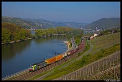 BLS Cargo 486 502, Lorch am Rhein 21-04-2017 (Henk Zwoferink) Tags: lorch hessen duitsland de bls cargo txl henk zwoferink nothegger wwwnotheggerat traxx bombarider br186 re486 486 502 ms2 am rhein