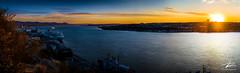 Matin d'automne sur Québec (JPLapointe) Tags: automn leverdesoleil fleuve river sun manoir boats quebec canada champlain promenade escaliers vieuxport croisière lévis iledorlean coucher de soleil horizon ciel mer eau crépuscule baie ngc nikon dslr d810 nationalgeographic