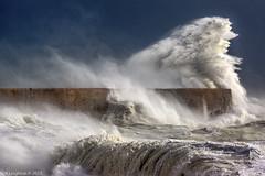 Storm Brian (Neil_Leighton) Tags: beach coast eastsussex newhaven storm briansussexbeachnewhavenwavesstormseawallblueskywindbeachcoasteast sussexnewhavenother keywordsplacessiussexstorm brian