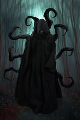 Mr Nightmare (Kathy Chareun) Tags: pesadilla nightmare dark darkness oscuro oscuridad ps photoshop hood capa negro black tentacles tentaculo forest bosque dreams sueños challenge reto 365 death muerte fotoretos monster monstruo evil mal maldad
