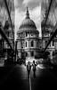 St Paul's reflected (Jonathan Vowles) Tags: st pauls london reflection reflections noir mono