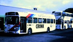 Slide 107-21 (Steve Guess) Tags: lcbs london country leatherhead bus garage surrey england gb uk cronk advert leyland national