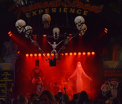 Halloween Eve in Vegas! (BKHagar *Kim*) Tags: bkhagar lasvegas nv nevada halloween music concert alterigor rock metal skull skulls spooky monster monsters stage smoke crowd people fremontstreet oldlasvegas