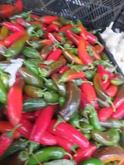 Blurry Peppres (earthdog) Tags: 2017 canon canonpowershotsx720hs powershot sx720hs food edible pepper jalapeno sunnyvale market shopping farmersmarket
