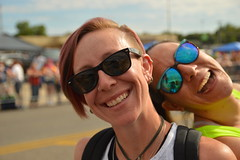 Perfect photobomb (radargeek) Tags: okc oklahomacity pride parade gayprideparade 2017 june sunglasses friends piercing