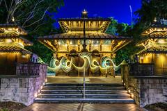 Peace Pagoda (stephenk1977) Tags: australia queensland qld brisbane nikon d3300 night twilight dusk nepal nepalese peace pagoda pavilion temple bluehour light painting art lightflute longexposure