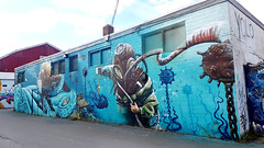 Dartmouth, Nova Scotia (Coastal Elite) Tags: dartmouth darthmouthgraffiti graffiti diver scaphandre diving scaphandrier ocean scene squid octopi tentacle tentacles tentacule tentacules sea deep océan plongeur plongée octopus pieuvre novascotia streetart urban street art urbain hrm halifax nova scotia murals mural murale murales harbourwalk harborwalk