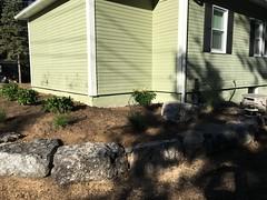 Planting completed (deroller) Tags: landscaping hardscaping landscape rocks boulders dolomite limestone plantings lighting volt cumberland bay patio front yard remake