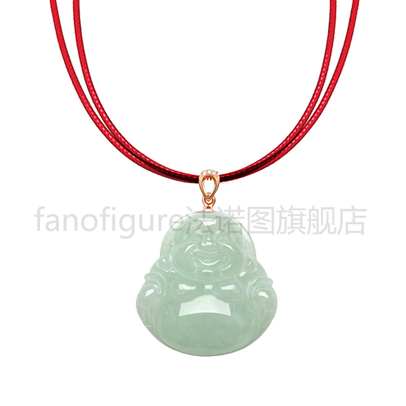 Fanuotu Han Lasheng leather cord necklace cord red rope lanyard jade pendant pendant jewelry and handmade red rope
