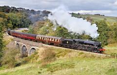 44871 On Mytholmes Viaduct. (neilh156) Tags: steam steamloco steamengine steamrailway railway 44871 mytholmesviaduct mytholmes keighleyworthvalleyrailway kwvr worthvalleyrailway black5 stanier lms