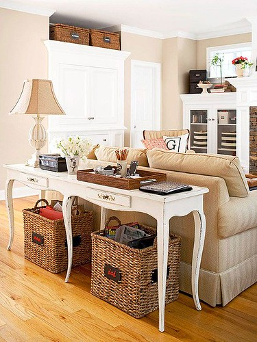 Living Room Decor : Bring storage to your living room with furniture that pulls double duty. A sofa-...