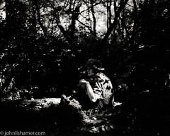 Foxhole (johnlishamer.com) Tags: 120 2017 6x7 bw fujiacros100 lishamer mamiyarb67prosd midwayvillagemuseum reenactment reenactors rockfordil seiko90mmf35kl wwiidays worldwariidays film history johnlishamercom mediumformat