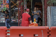 Soda, Pop, and Candy (ChristopherPack) Tags: chrispackphoto street photography landscape people canon canon80d construction site building traffic cone neon lights columbus ohio short north city cityscape