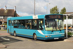 AMN 3721 @ Cannock bus station (ianjpoole) Tags: arriva midlands vdl sb200 wright commander fj06ztg 3721 the church mouse chadsmoor working route 21 cannock bus station longford estate