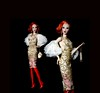 Gold and Red (FBJDcollector) Tags: kingdomdoll xclusivelyrnd fahion red gold fashiondoll doll resin fbjd couture