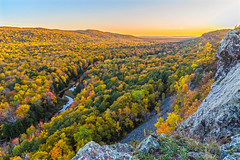 Porcupine Mountains (Daniel000000) Tags: mi michigan northwoods trees fall colors autumn leaves colored woods forest sky clouds sunset porcupine mountains mountain lake cliff river water green light nature landscape nikon dslr naturaleza landschaft sunny red tree blue sun park yellow orange new