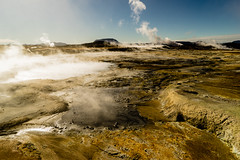 Life on Mars (*Capture the Moment*) Tags: 2017 clouds farbdominanz fog fotowalk iceland island namaskard nebel rauch schlammquellen schwefel smoke sonne sonya7m2 sonya7mii sonya7mark2 sonya7ii sonyfe2470mmf4zaoss sonyilce7m2 sulphur sun wetter woleken yellow gelb mudfountain mudspring mudwell