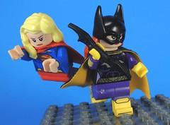 Girls Team Up (MrKjito) Tags: lego super heroes minifig batgirl supergirl kara zor el barbra gordon team up dc comics comic