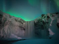 The green fall (Teemu Kustila Photography) Tags: waterfall skógafoss iceland landscape scenery space water free pure frozen winter ilobsterit