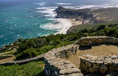 Long way down (Coisroux) Tags: capepoint steps stones walkway paths mountains shoreline southafrica atlanticocean beach sky peninsula d5500 nikond cliff capetown landscape capeofgoodhope walls 7dwf