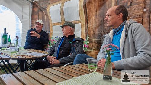 Eifelstopp: Peter Lauer, Herbert Peck, Jürgen Weiß (von links nach rechts)