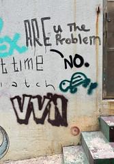 Are U The Problem (cowyeow) Tags: china street chinese asia asian 香港 hongkong sheungwan city urban composition graffiti wall streetart funny odd weird funnyhongkong funnychina turtle problem steps