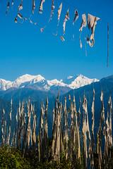Sikkim, India (David Ducoin) Tags: asia himalaya india kangchenjunga landscap landscape mountain prayerflag sikkim sky gangtok in