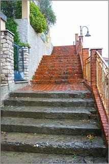 Steps to Chiesa Stella Maris, Via Fiascherino, Tellaro, Italy